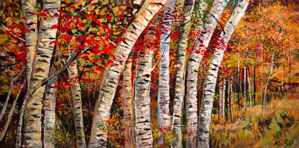 Dancing Aspens (H)/Art On Canvas Art | KenarovART Inc