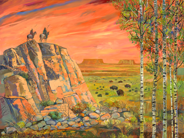 In The West/Art On Canvas Art | KenarovART Inc