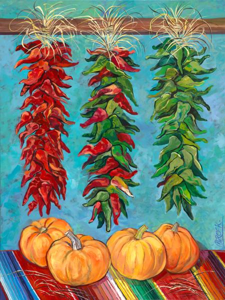 Red & Green/Art On Canvas Art | KenarovART Inc