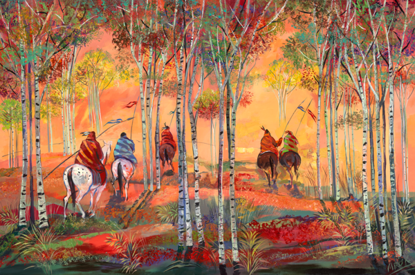 Sunrise Aspens/Art On Canvas Art | KenarovART Inc