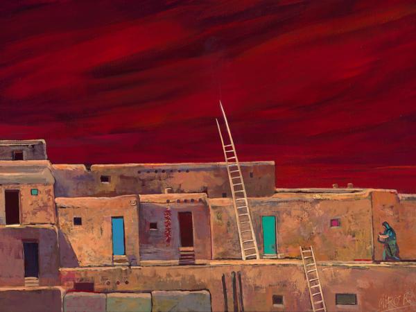 Taos Pueblo/Art On Canvas Art | KenarovART Inc
