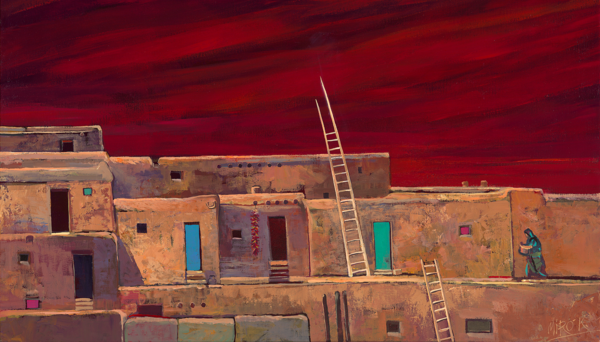 Taos Pueblo   Horizontal/Canvas Art | KenarovART Inc