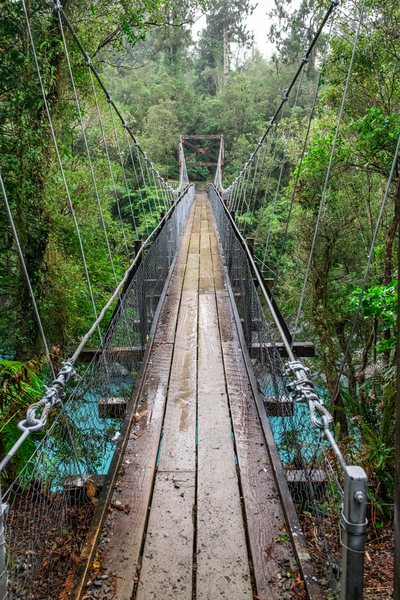 Suspension Bridge South Island Nz Photography Art | Eric Hatch