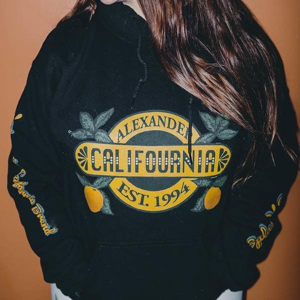 Califournia Black Hoodie | Alex Ranniello Art