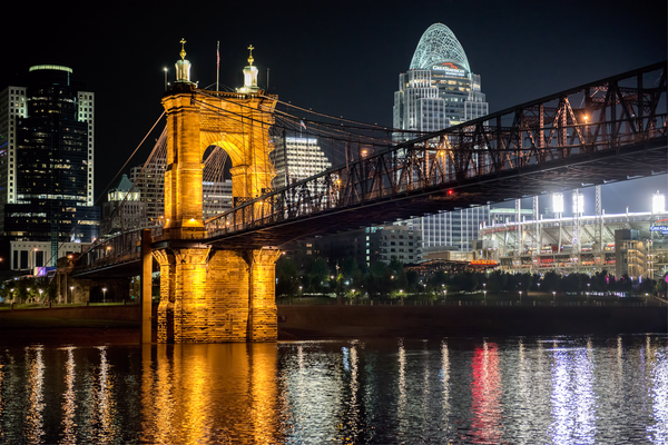 Cincinnati Old And New Night Cityscape Photography Art | Eric Hatch