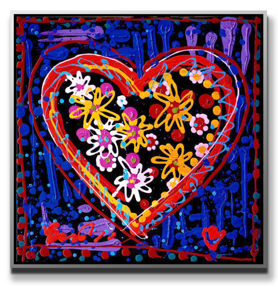 """Simon Bull Available Original Painting - """"The Love We Share"""""""