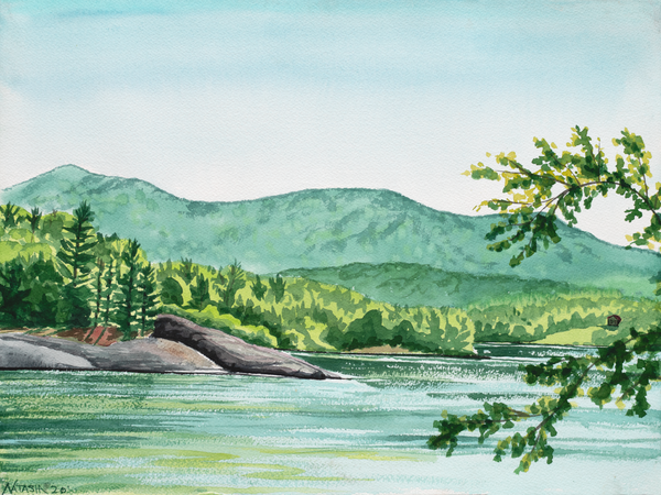 Morning on Waterbury Reservoir Art for Sale