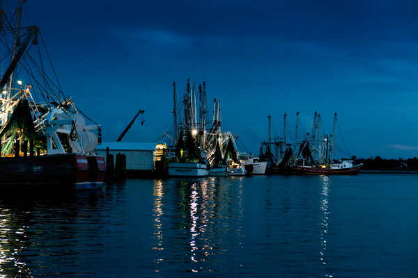 Working Harbor At Nightfall Photography Art | Eric Hatch