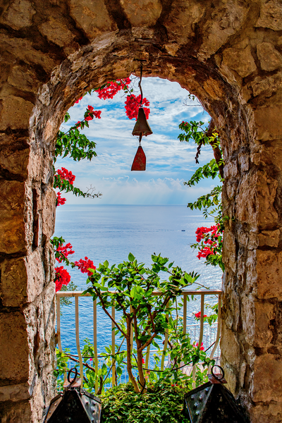 Art Print Positano Italy Angels View
