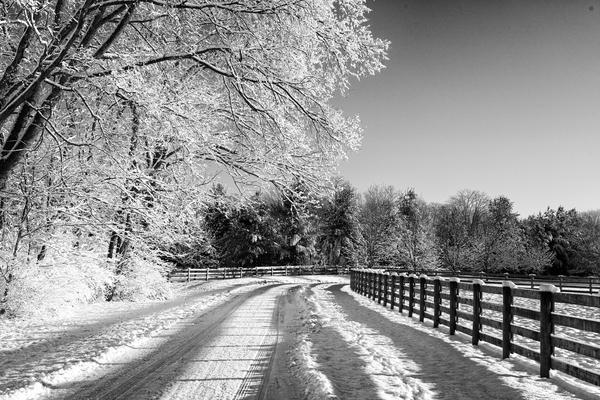Farm Lane Winter Snow Photography Art | Eric Hatch
