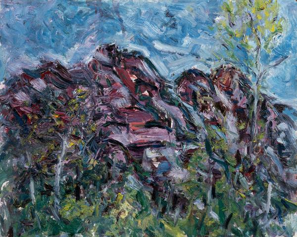 """Red Stone"" Original Art | Daniel Kanow Fine Art"