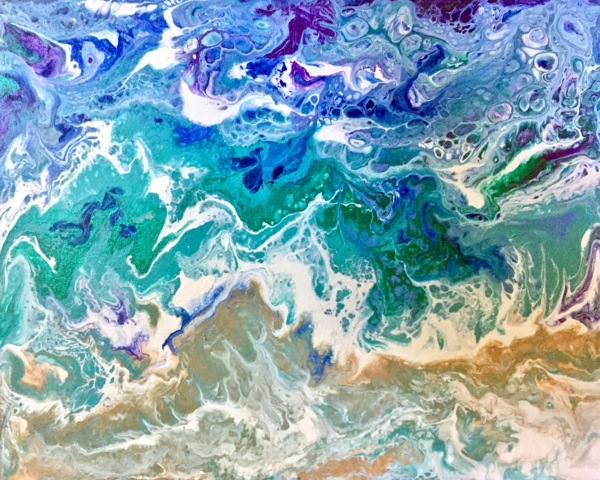Incoming Tide acrylic abstract