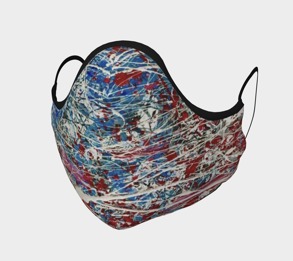 United States Of Chaos   Cloth Face Mask | Chuck Redick Art