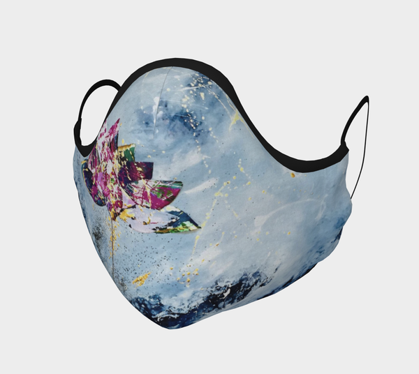 Kintsugi Lotus   Cloth Face Mask | Chuck Redick Art