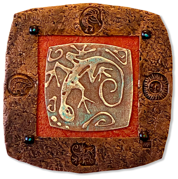 Lizard In Brown Art   KenarovART Inc