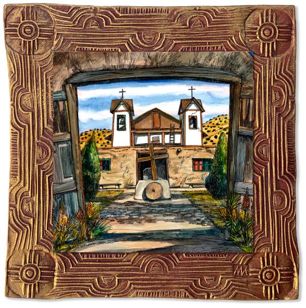 Chimayo Church | Canvas On Clay Art | KenarovART Inc