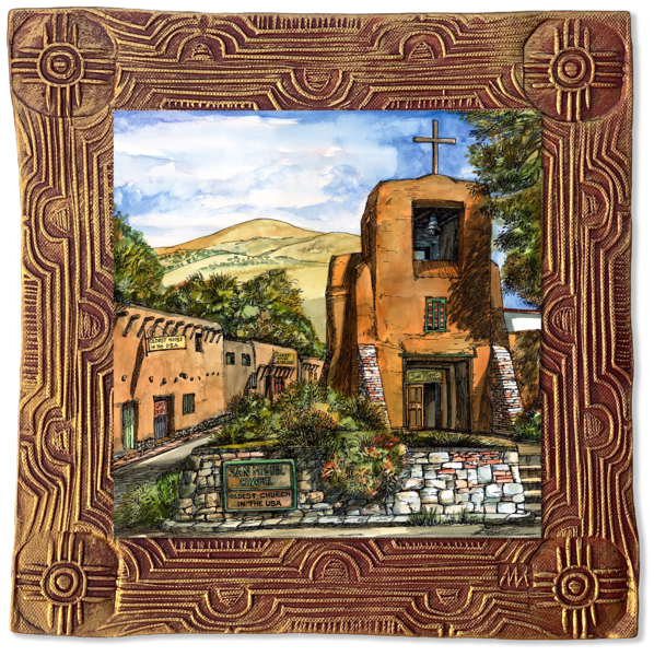 San Miguel Chapel | New Mexico Collection Art | KenarovART Inc