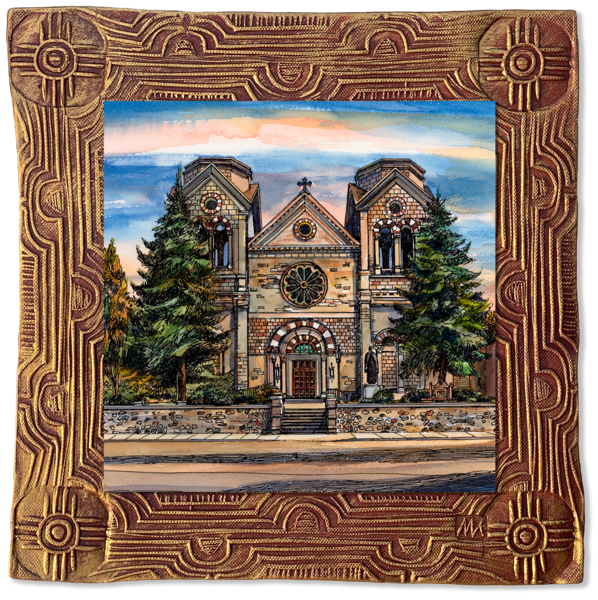 St. Francis Cathedral | New Mexico Collection Art | KenarovART Inc