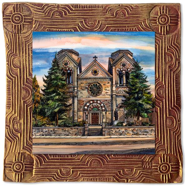 St. Francis Cathedral | Canvas On Clay Art | KenarovART Inc