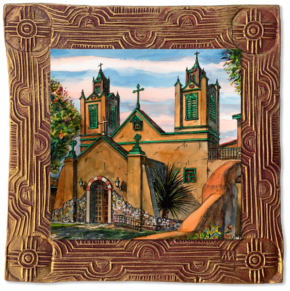 San Felipe De Neri | New Mexico Collection Art | KenarovART Inc