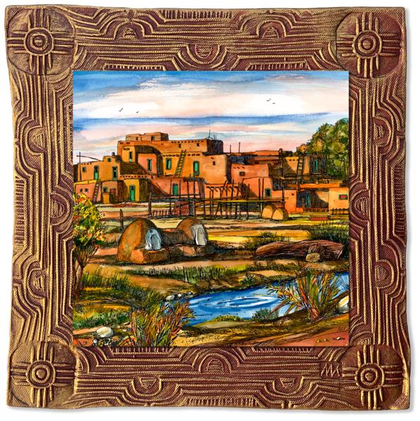 Taos Pueblo | Canvas On Clay Art | KenarovART Inc