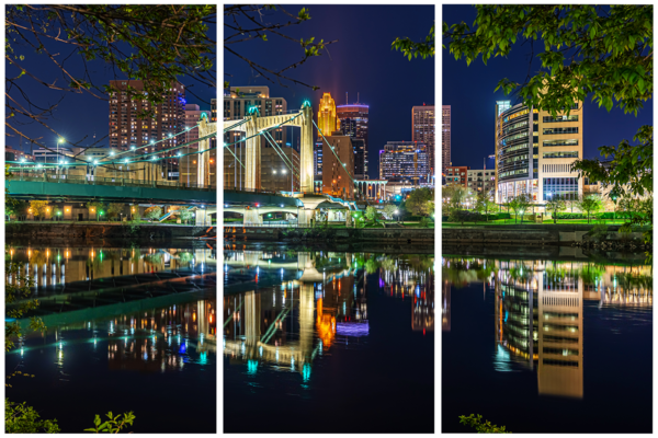Hennepin Reflections - Minneapolis Acrylic Panel Art