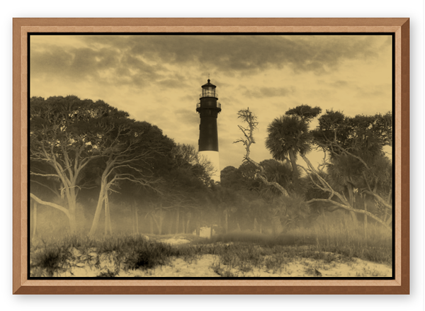 Lighthouse Gold Metal 24x36 Photography Art | Phil Heim Photography
