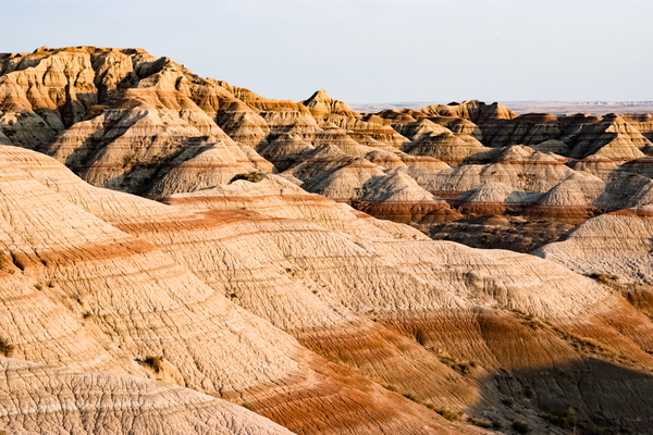 Badlands Strata Late Afternoon Photography Art | Eric Hatch