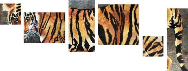 Bengal Tiger Original Art | Water+Ink Studios
