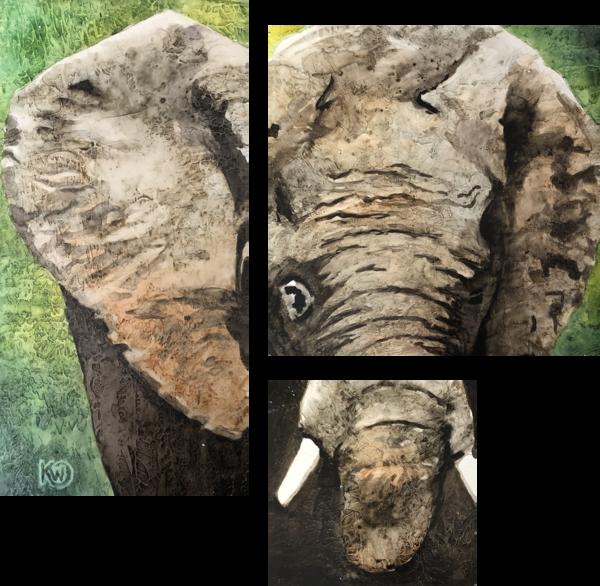 African Elephant Original Art | Water+Ink Studios
