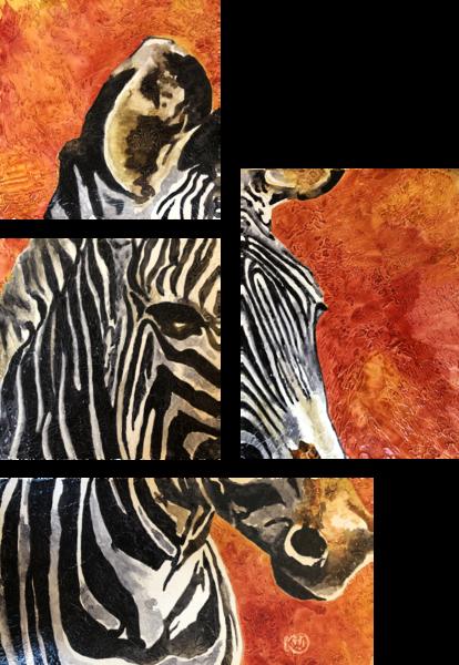 Grevy's Zebra Orignial Art | Water+Ink Studios