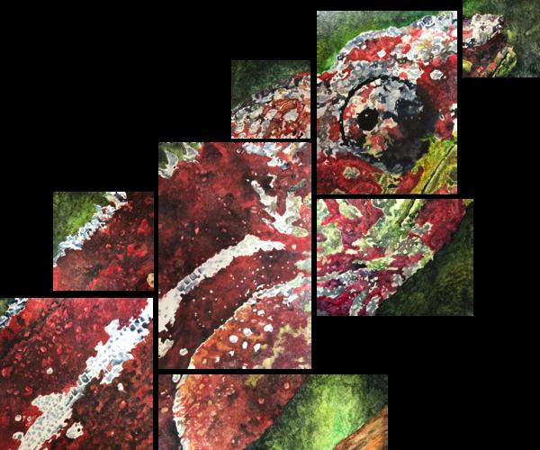 Chameleon Original Art   Water+Ink Studios