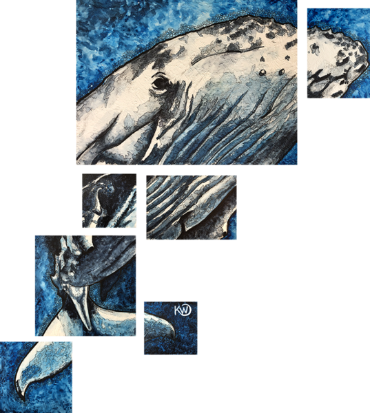 Humpback Whale Original Art | Water+Ink Studios
