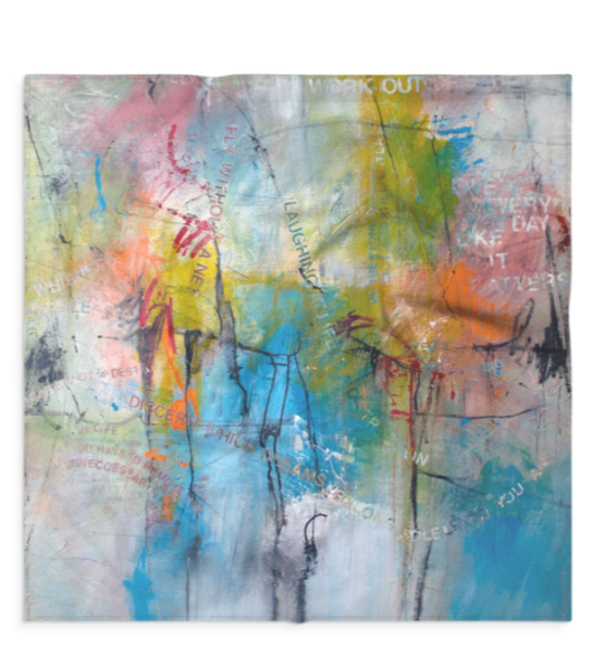 Small Scarf: : Fly Without A Net  | Stephanie Visser Fine Art