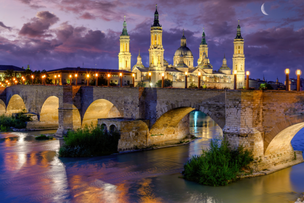 Basilica And The Ebro River Photography Art | Images by Louis Cantillo