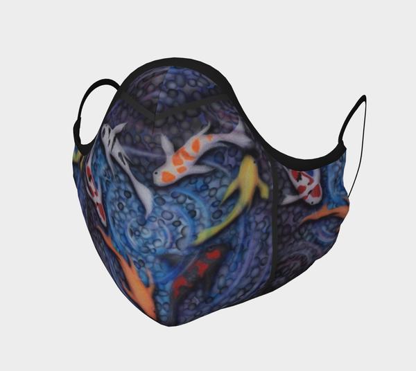 covid, face-mask, koi-fish, face-covering, mask, health