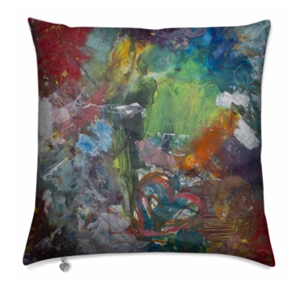 Pillow :  Blended With Love | stephanie visser fine art