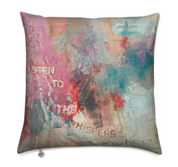 Pillow : Listen To The Whispers Of Your Heart | stephanie visser fine art