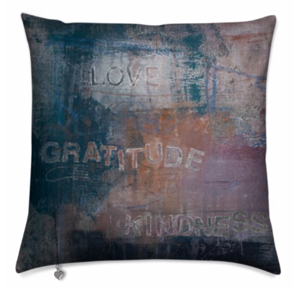 Pillow : Love Gratitude Kindness | stephanie visser fine art
