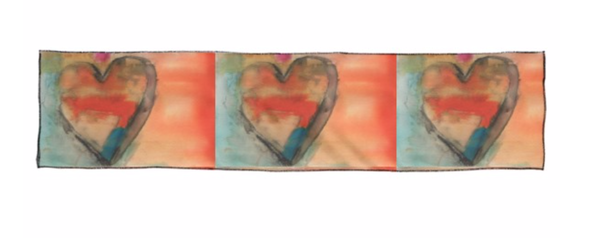 Long Scarf : : Hearts 1   | Stephanie Visser Fine Art