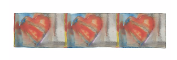 Long Scarf : Hearts 2    | Stephanie Visser Fine Art