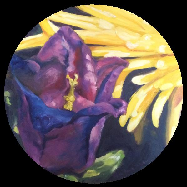 Bellflower Tondo Art | Shed Art