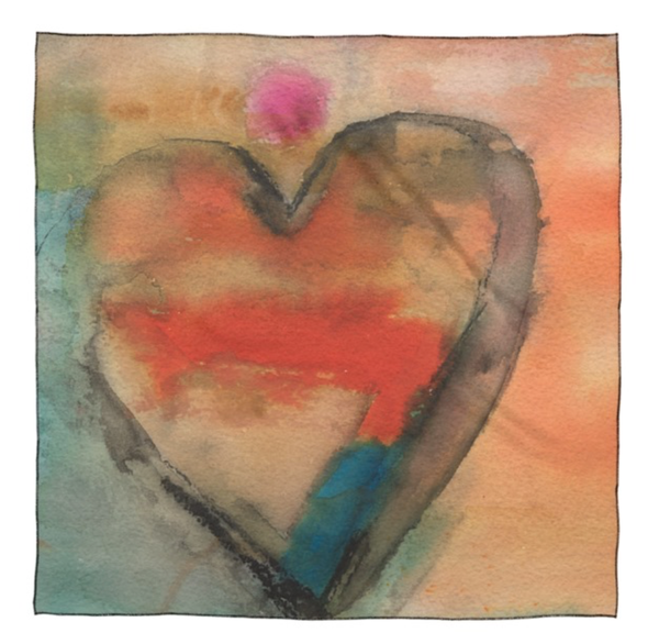 Small Scarf : Hearts 1 | Stephanie Visser Fine Art