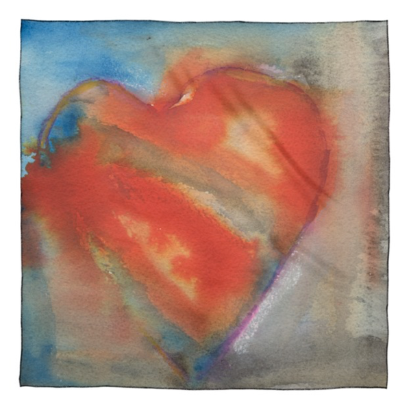 Small Scarf : Hearts 2 | Stephanie Visser Fine Art