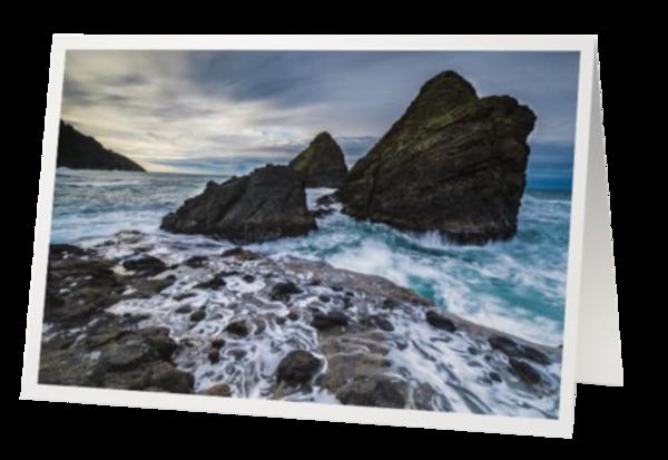 Rocks Washed Against The Waves | marcyephotography