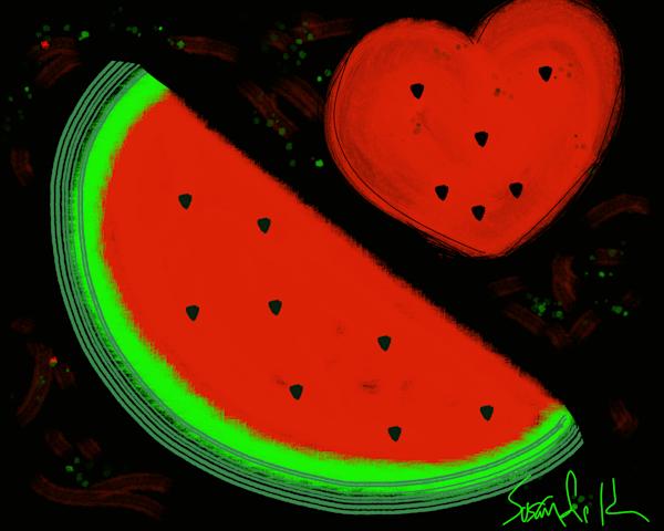 In The Heart Of A Watermelon Art | Susan Fielder & Associates, Inc.