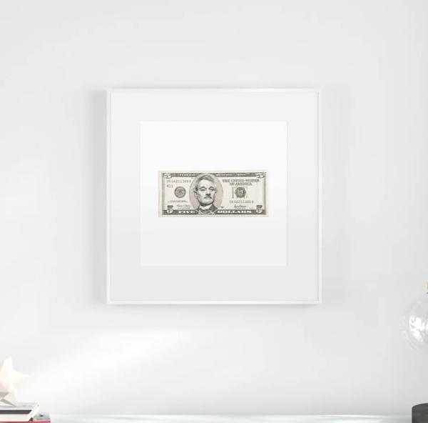 5 Dollar Bill Murray (2nd Original Drawing)  Art | GINOZKO
