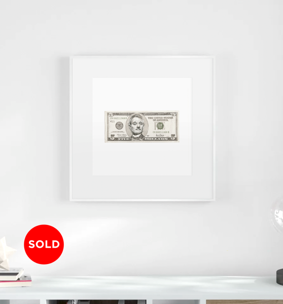 5 Dollar Bill Murray (1st Original Drawing)  Art | GINOZKO
