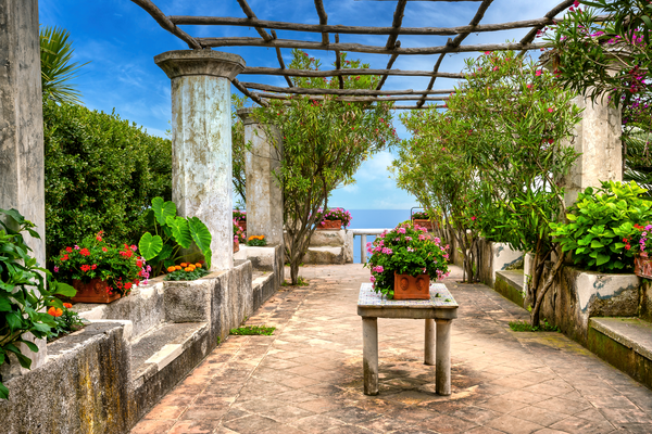 Print Art Ravello Amalfi Coast Italy Enchanting Villa