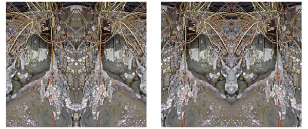 The Stone Masks Diptych_Mirrors 1161/1162